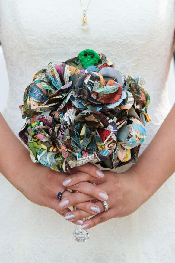 comic wedding bouquet
