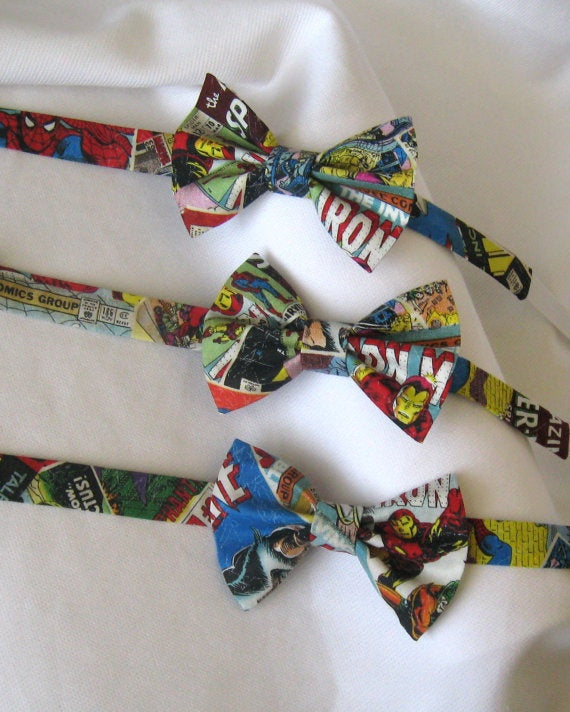 cool comic wedding bowties