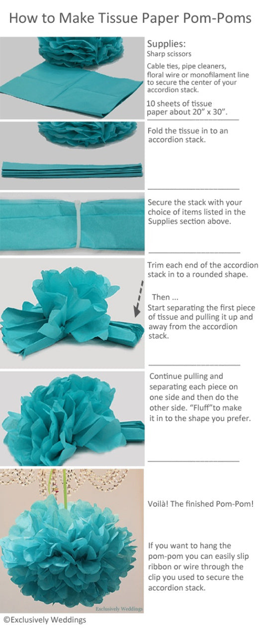 how to make tissue pom pom