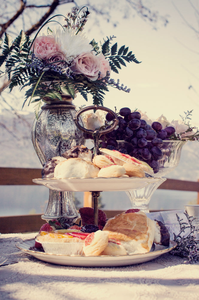 vintage tea party sweets