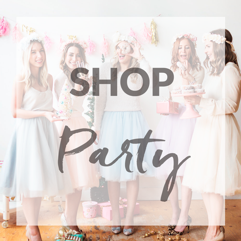 pastel dress party shopping