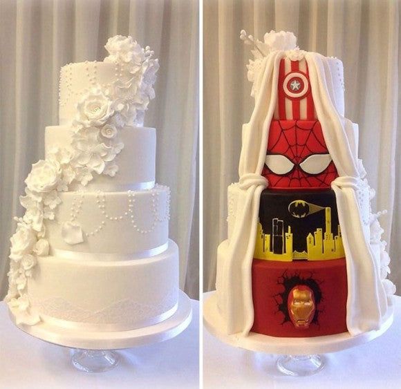cool superhero wedding cake