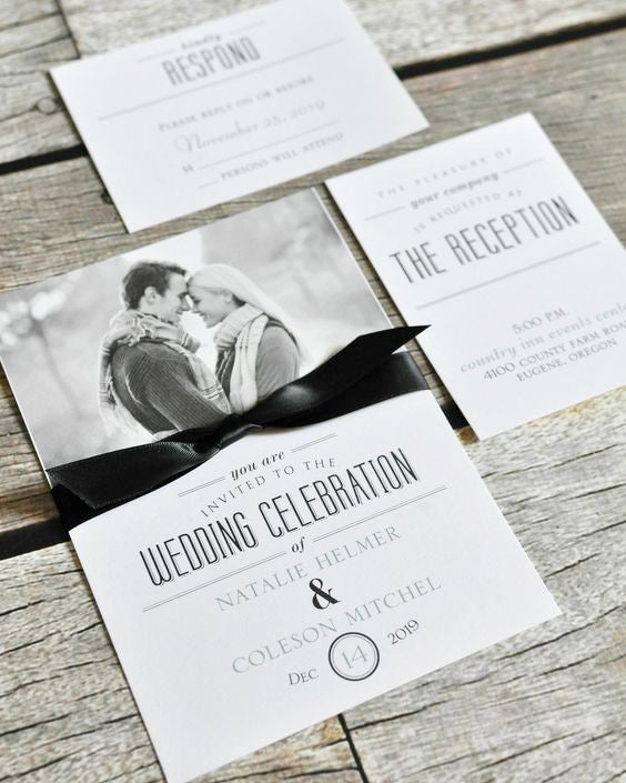 hipster picture wedding invitation