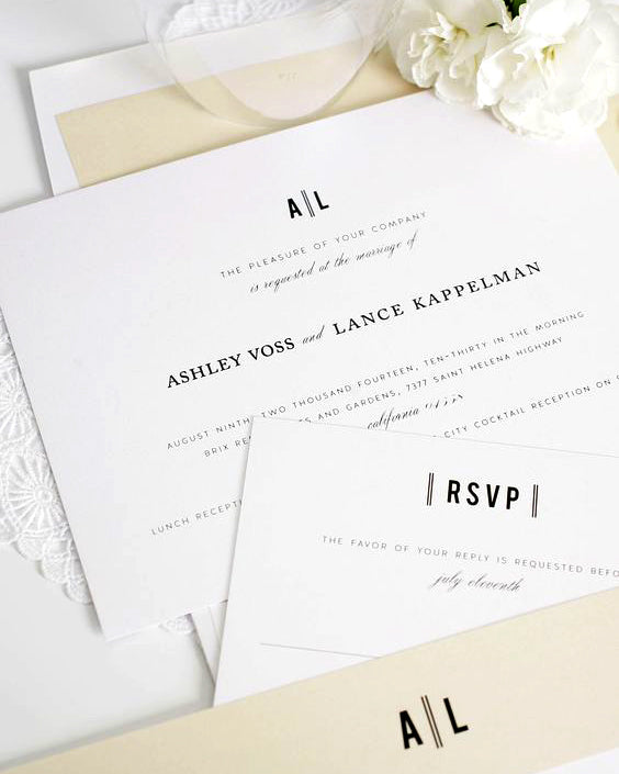 clean simple wedding invitation