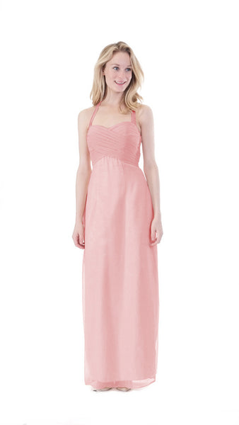 Anna Halter Chiffon Bridesmaid Dress - PastelDressParty