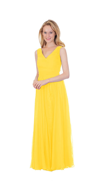 pastel-dress-party-bridesmaid-dresses-chiffon-long-canary-yellow