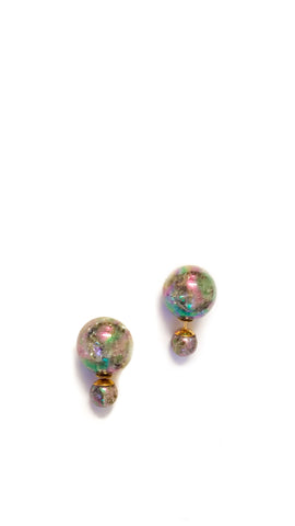Double Sided Pearl Earrings - PastelDress