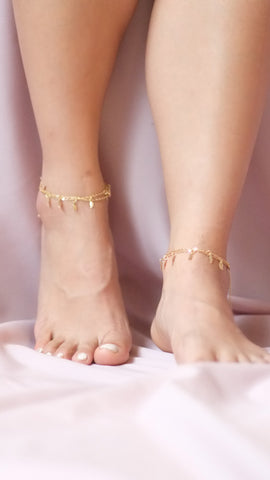 Leaf Charm Anklets - pasteldress