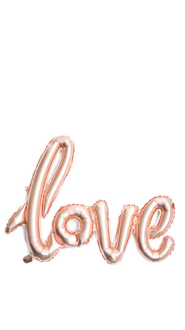 """Love"" Banner Balloon - pasteldress"