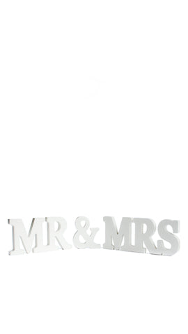 'Mr & Mrs' Wooden Letters - pasteldress