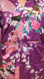 Satin Kimono Robe - Printed Long - pasteldress