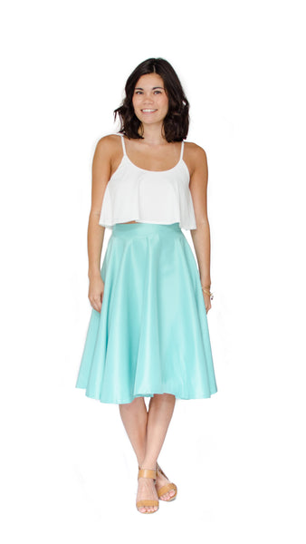 Emily Satin Skirt - pasteldress