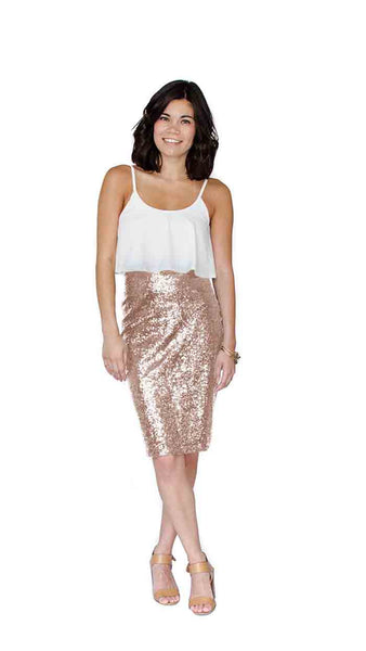 Lucy Sequin Skirt - pasteldress