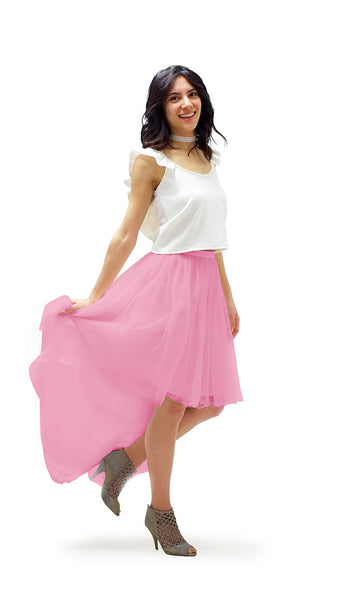 Kimmy High-Low Tulle Skirt - pastel dress