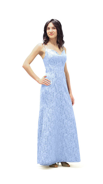 Tessa Lace Bridesmaid Dress - pastel dress