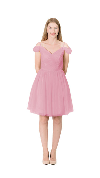 pastel-dress-party-bridesmaid-dresses-tulle-drape-fashion-cute-rose