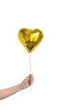 Mini 10'' Foil Heart Balloon - pasteldress