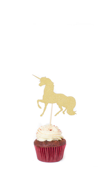 Unicorn Cake Topper - Pack of 5 - pasteldress