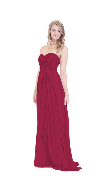 pastel-dress-party-bridesmaid-dresses-burgundy-chiffon-long