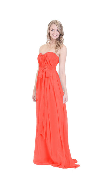 pastel-dress-party-bridesmaid-dresses-coral-chiffon-long