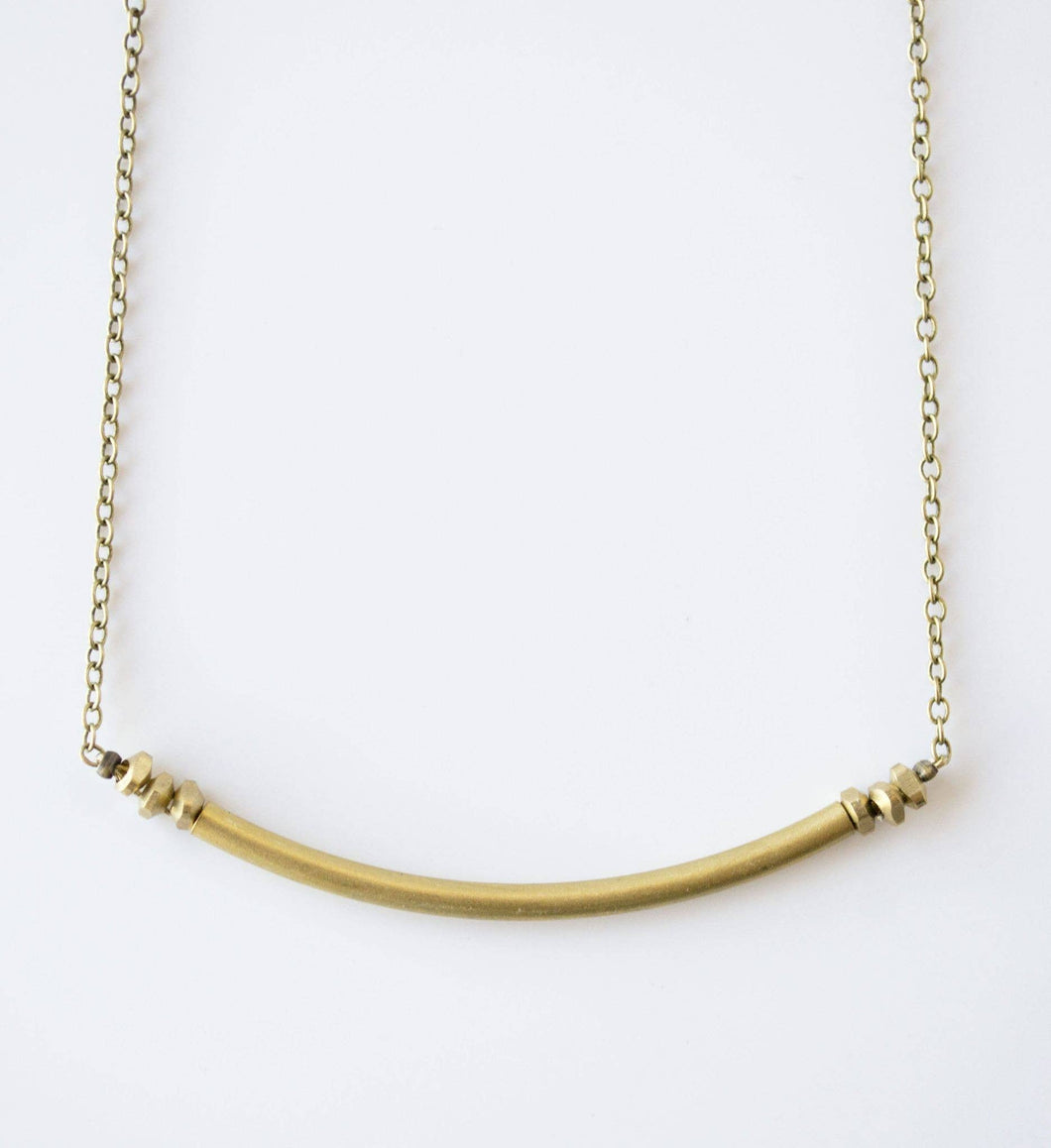 Dainty Gold Necklace or The Skinny Tube