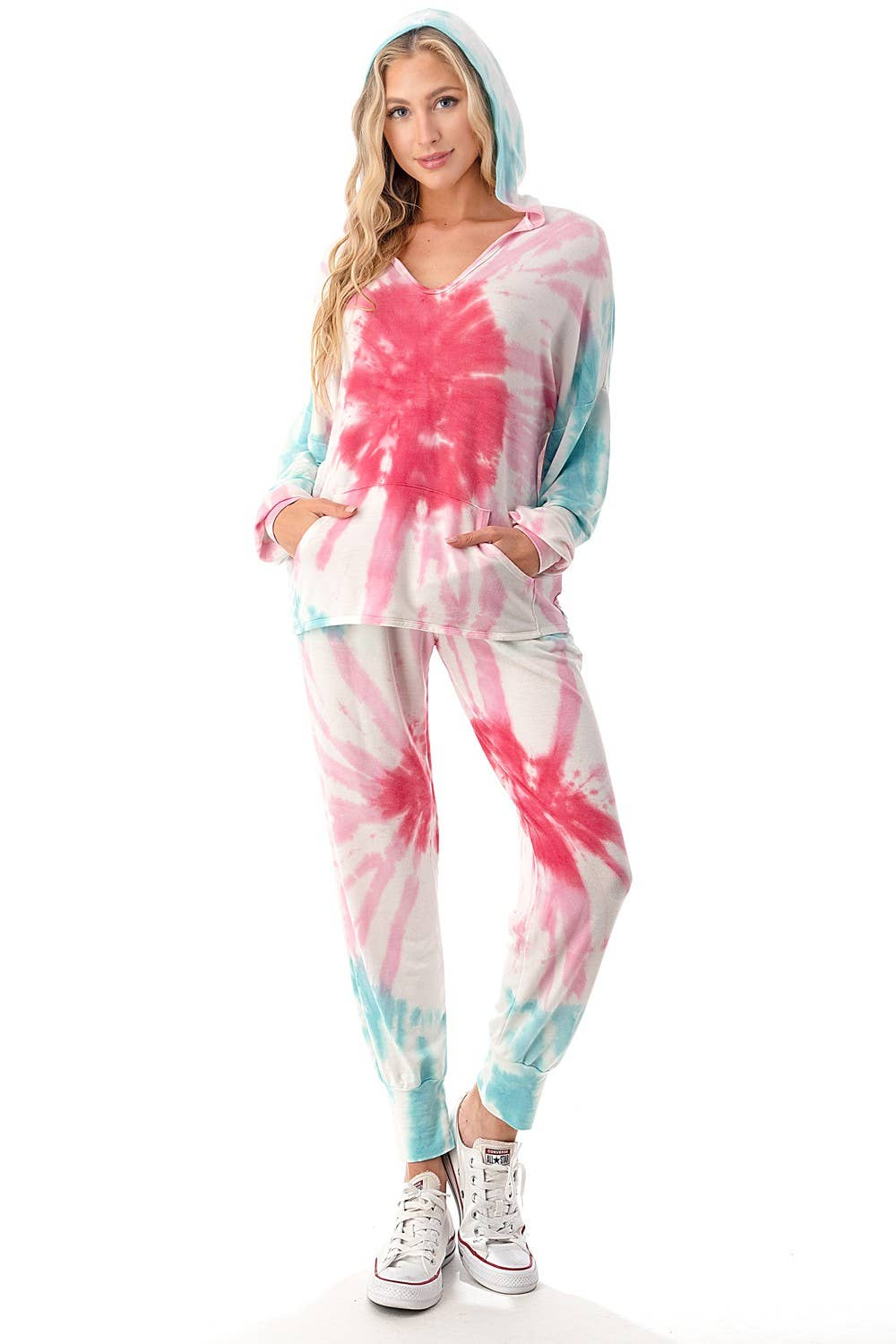 CANDY TIE DYE HOODIE & JOGGER SET - BRIGHT PASTELS
