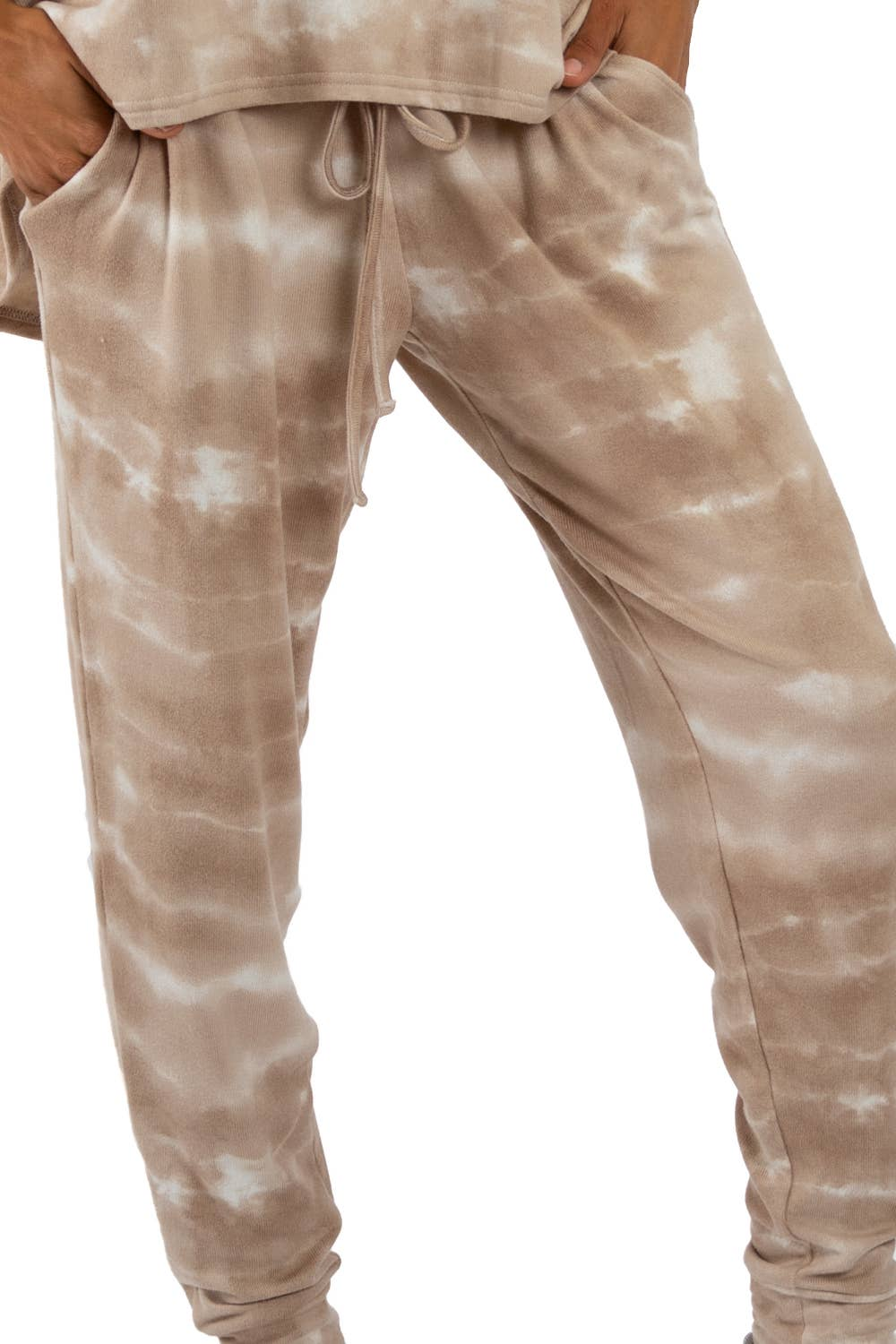 JOGGERS - Taupe Tie Dye