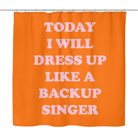 Backup Singer Shower Curtain | The Inked Elephant