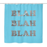 Blah Shower Curtain | The Inked Elephant
