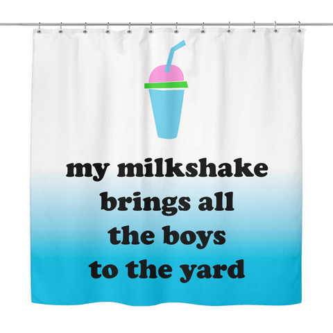 Milkshake Shower Curtain  | The Inked Elephant