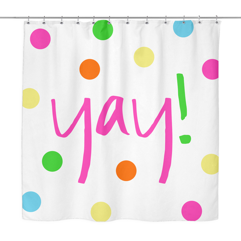 Yay! Shower Curtain | The Inked Elephant