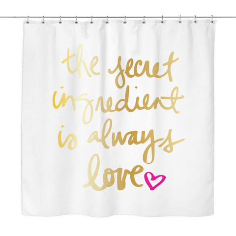 Always Love Shower Curtain | The Inked Elephant