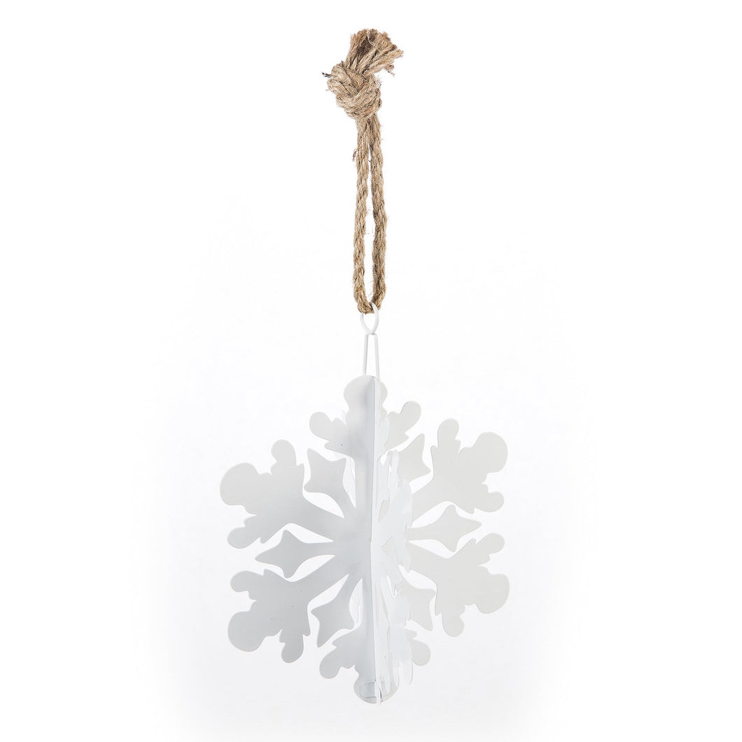 7X8 SMALL SHINY WHITE SNOWFLAKE