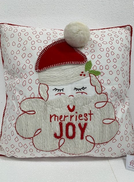 Merriest Joy Santa Pillow