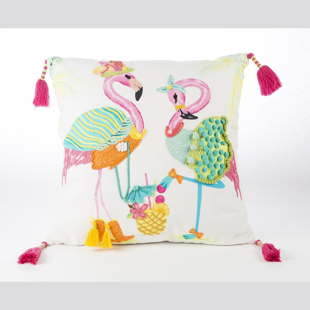 Sassy Flamingos - Pillow
