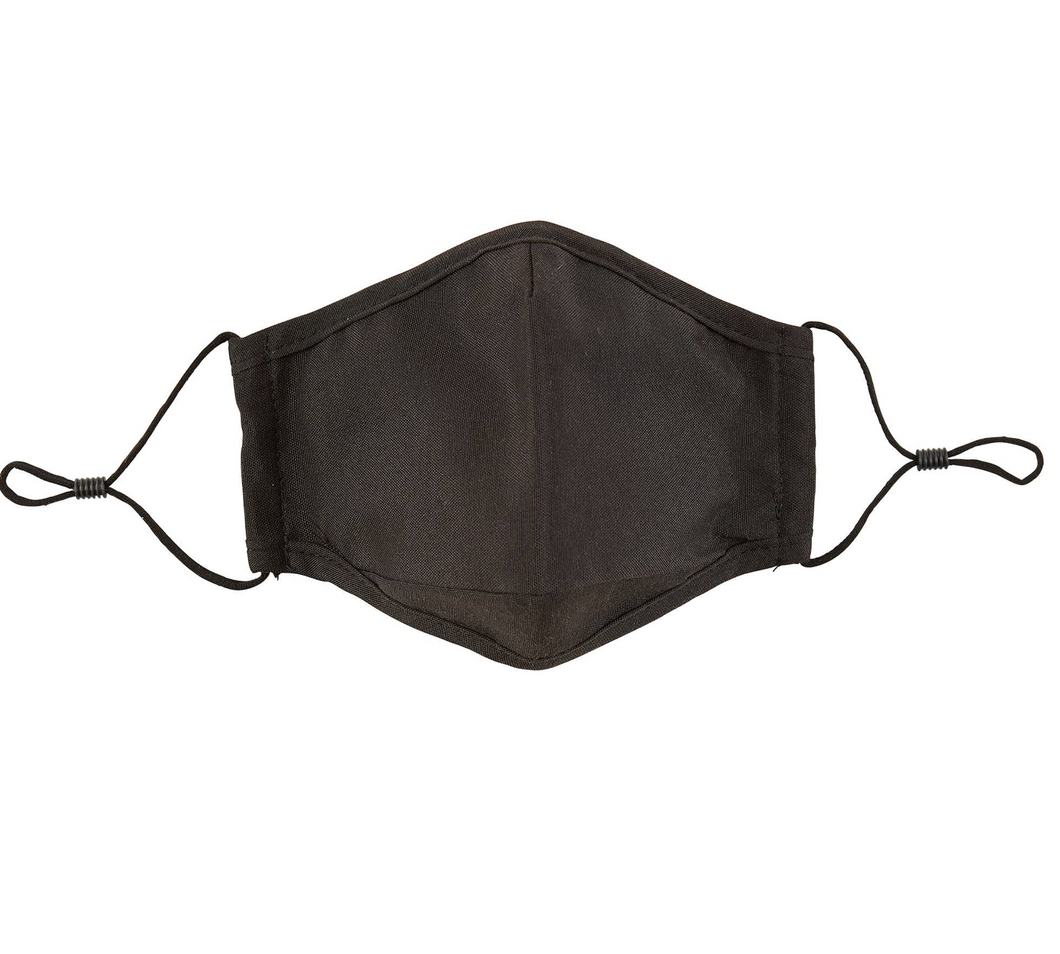 CLOTH FACE MASK  - SOLID BLACK