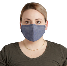 Load image into Gallery viewer, CLOTH FACE MASK DENIM CHAMBRAY