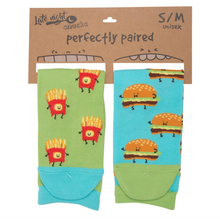 Load image into Gallery viewer, Cheeseburger And Fries S/M Unisex Socks