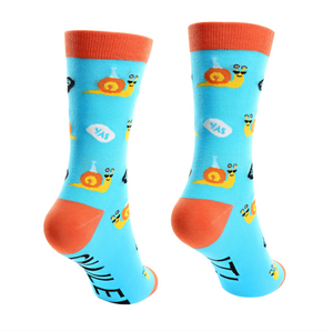 Snailed It - S/M Unisex Cotton Blend Socks