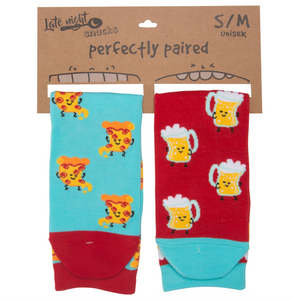 Beer And Pizza  S/M  Unisex Socks