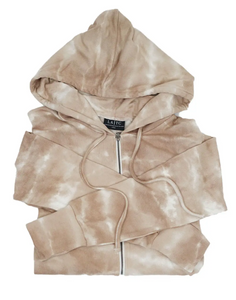 ZIP UP - Taupe Tie Dye