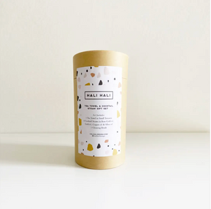 Tea Towel & Cocktail Straw Gift Set Combo Pack - Terrazzo