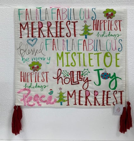 Holiday Sayings Table Runner