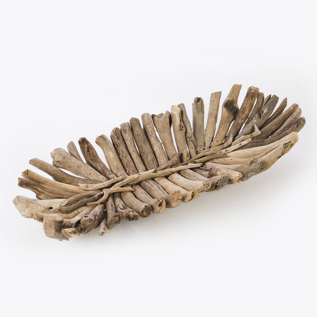 MEDIUM DRIFTWOOD OVAL TRAY