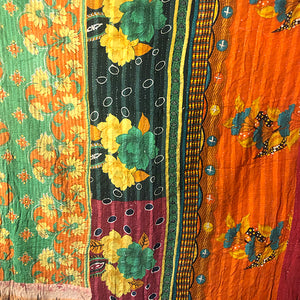 Kantha Vintage Quilts, Room Decor or Tablecloth