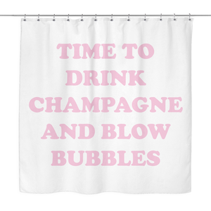Champagne & Bubbles Shower Curtain