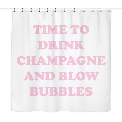 Champagne & Bubbles Shower Curtain | The Inked Elephant