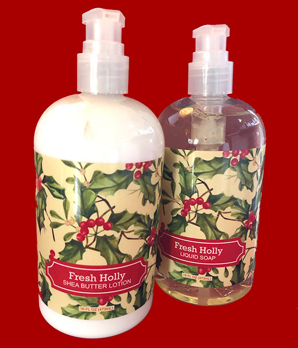 Fresh Holly Hand Soap and Lotion