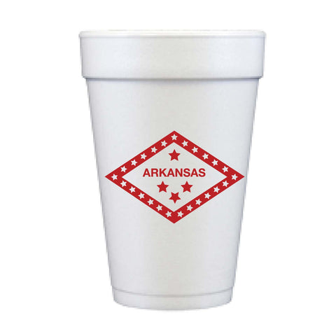 Arkansas Diamond State Foam Cups | The Inked Elephant