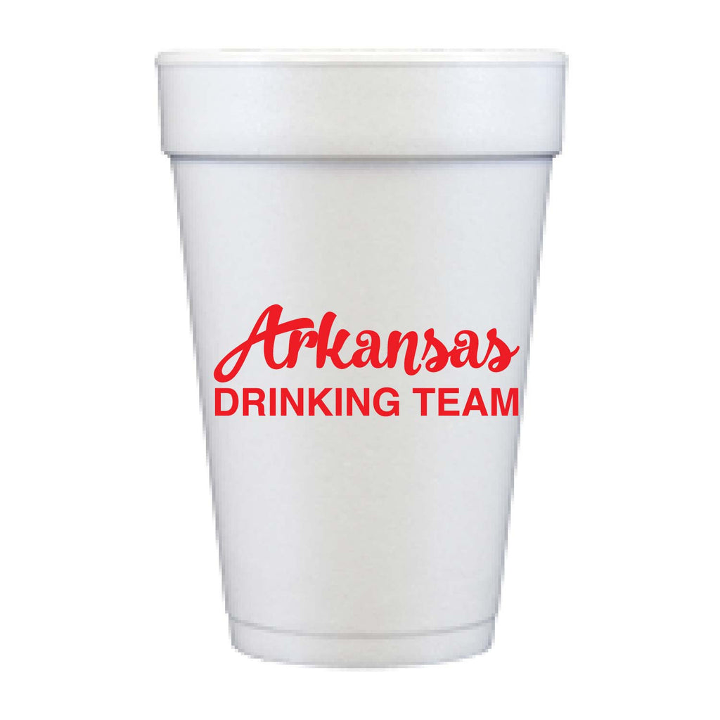 Arkansas Drinking Team Foam Cups | The Inked Elephant